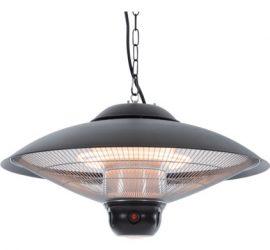Exkluzív halogén lámpás teraszfűtő fekete (BLACK EDITION)